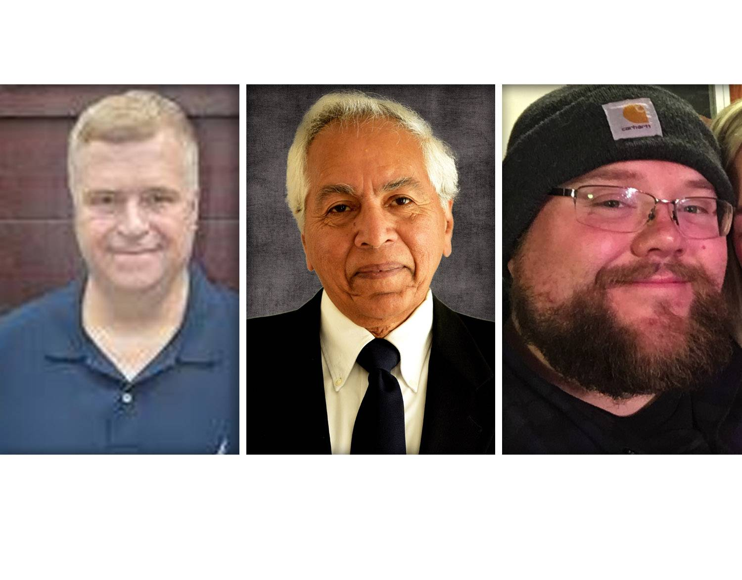 "From left, Thomas Gibbons, Mohammad ""Mo"" Iqbal and John Shales are Democrat candidates for Kane County Board Dist. 19"