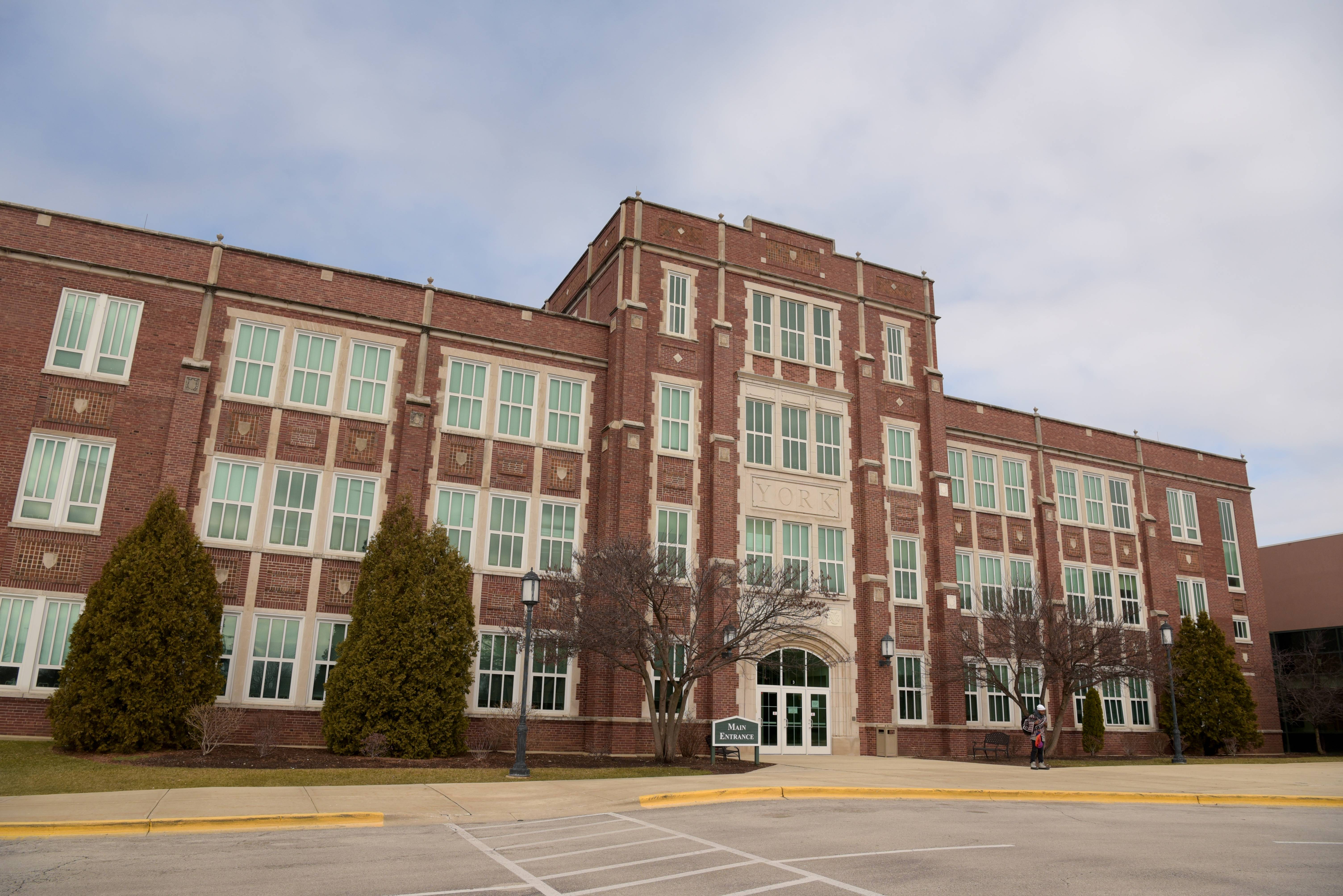 York High School officials are trying to calm the community after a student inexplicably ran out of a fourth-period class Thursday. The student has been turned over to his parents.