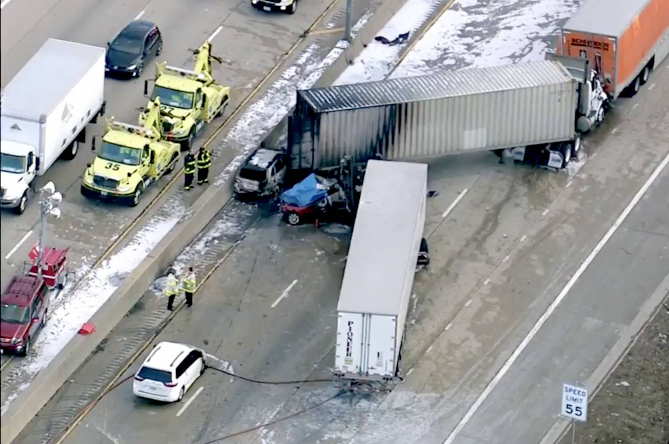 An Indiana man was killed in a seven-vehicle crash Thursday on inbound Interstate 290 near Elmhurst, the Cook County medical examiner's office said.