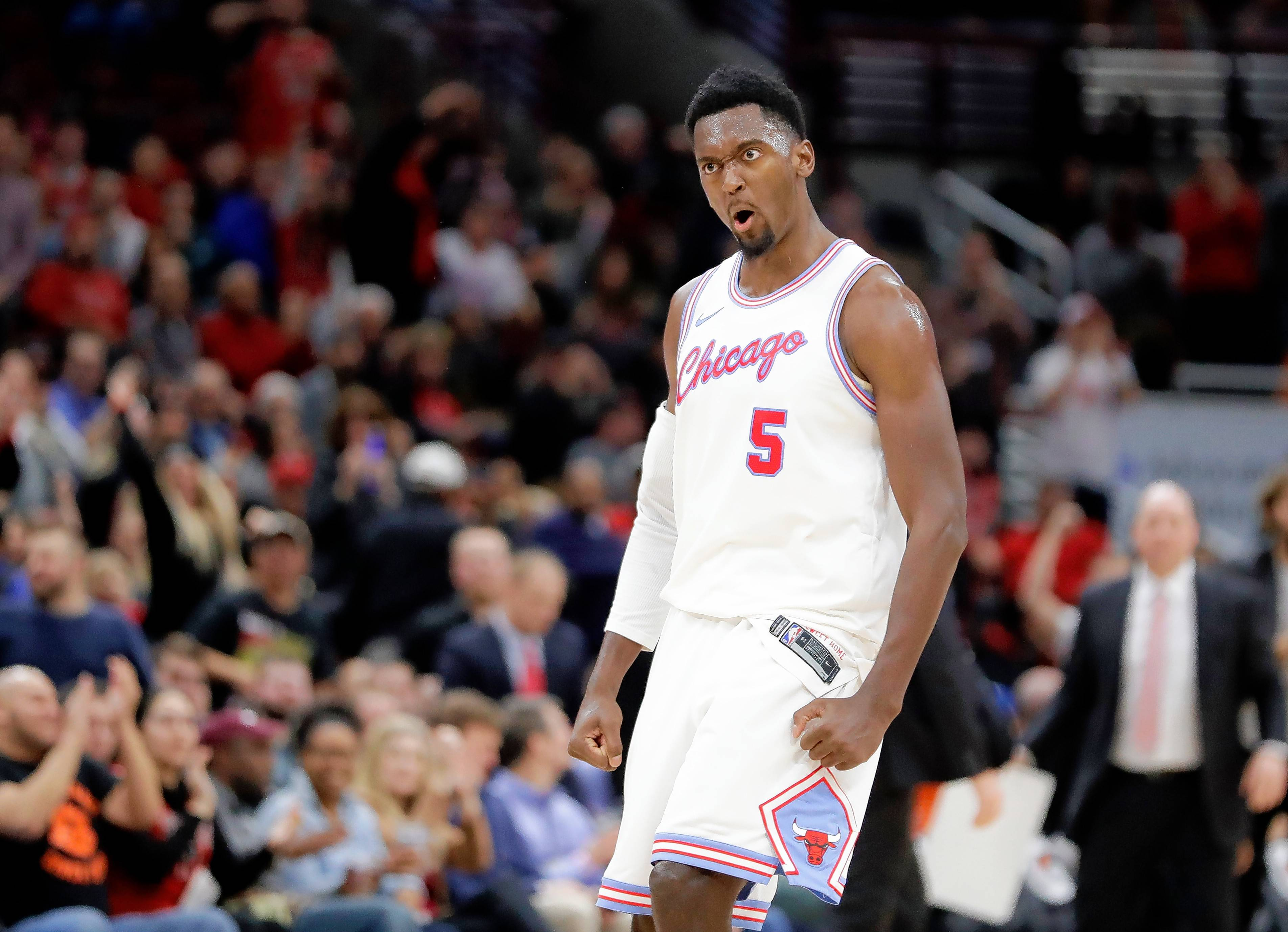 Chicago Bulls' Bobby Portis is expected to start at center on Monday as part of coach Fred Hoiberg's lineup changes for at least the next five games.