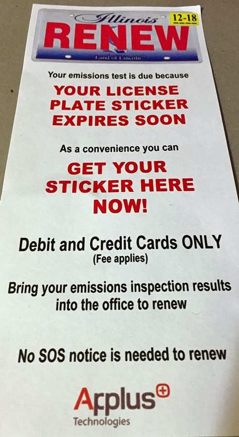 Drivers Can Renew Their License Plate Stickers At Emissions Test Facilities But An Extra Fee