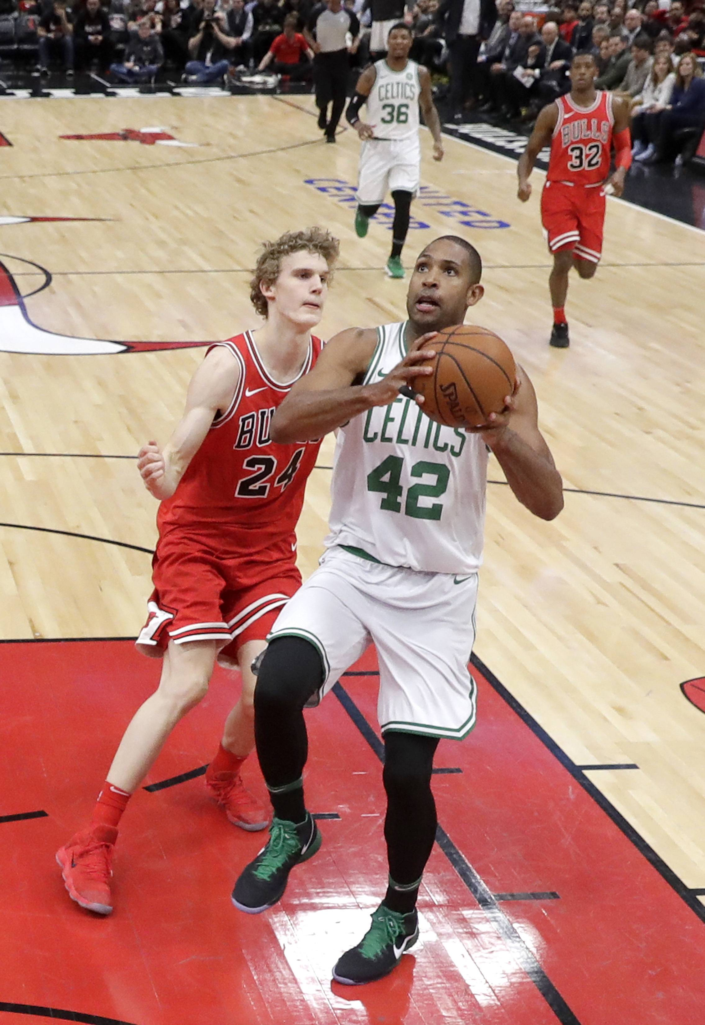 Celtics' revised starting lineup handles Chicago Bulls with ease