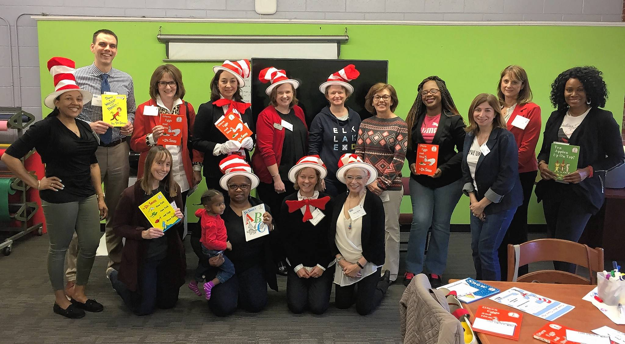 Guest readers visited Green Bay Early Childhood Center in North Chicago during United Way of Lake County's Dr. Seuss Reading Event.