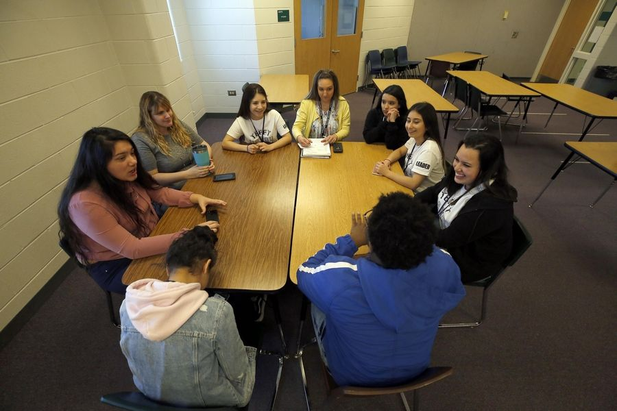 Developing youth leadership is one of the interventions offered by Hanover Township Youth and Family Services at Bartlett High School to combat bullying.