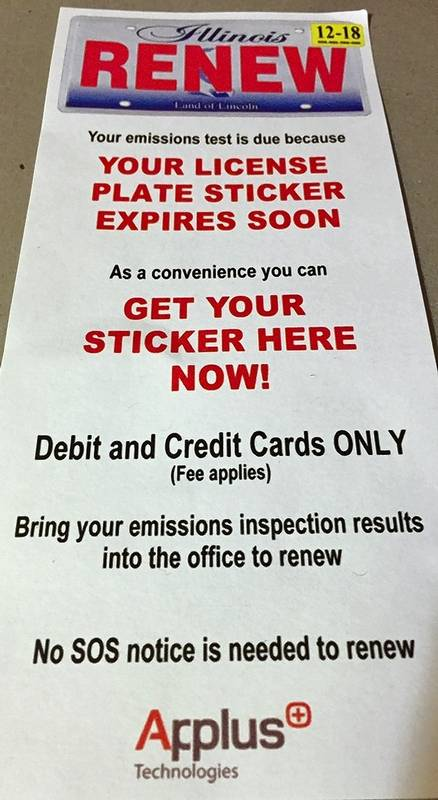 Pairing emissions test, sticker renewal is convenient -- for