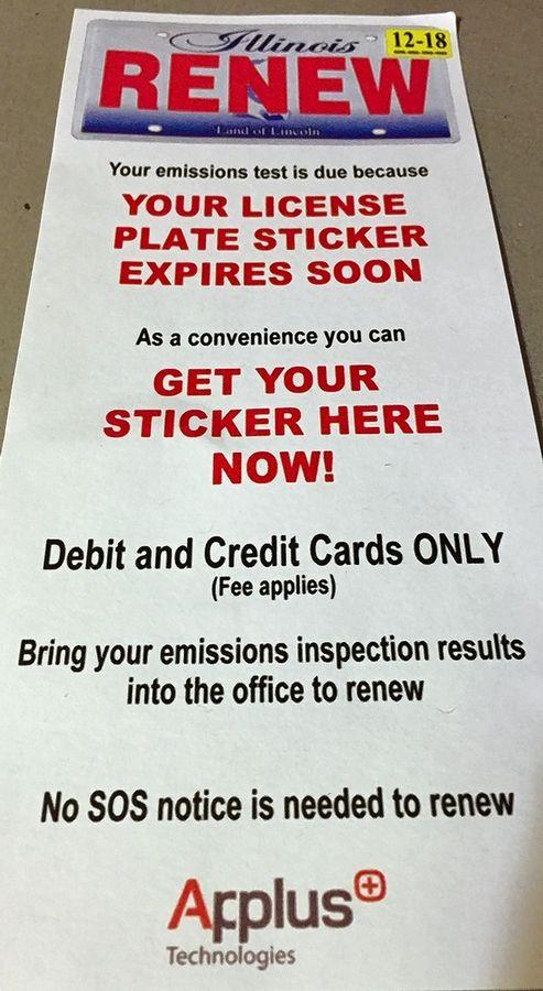 Emission Test Kenosha >> Pairing Emissions Test Sticker Renewal Is Convenient For A Fee