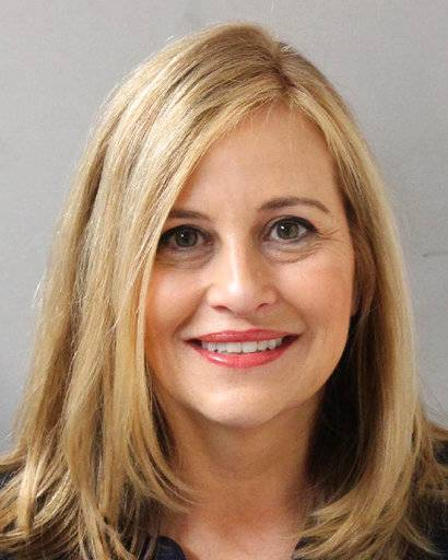 This photo provided by the Metropolitan Nashville Police Department shows Nashville Mayor Megan Barry, who resigned from her position on Tuesday, March 6, 2018. Barry, a one-time rising star in the Democratic Party with big plans to remake Nashville, pleaded guilty Tuesday to cheating the city out of thousands of dollars as she carried on an affair with her bodyguard. (Metropolitan Nashville Police Department via AP)
