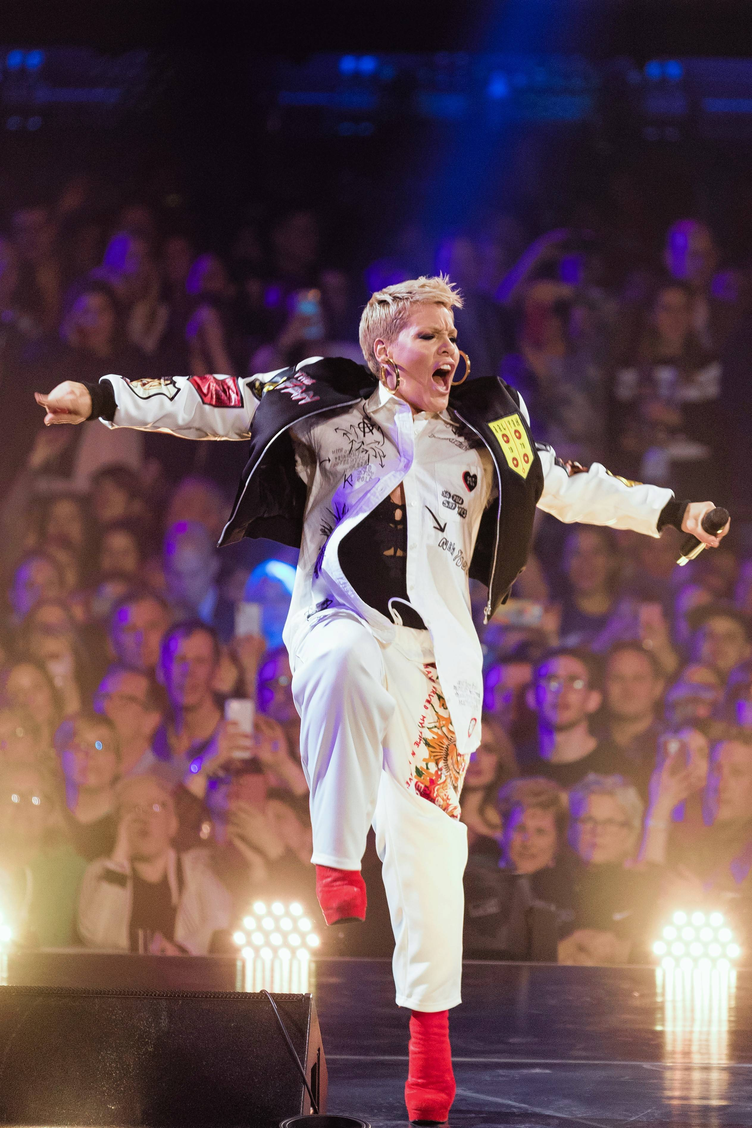 Pink's energetic stage show will be the highlight of the United Center March 9 and 10.