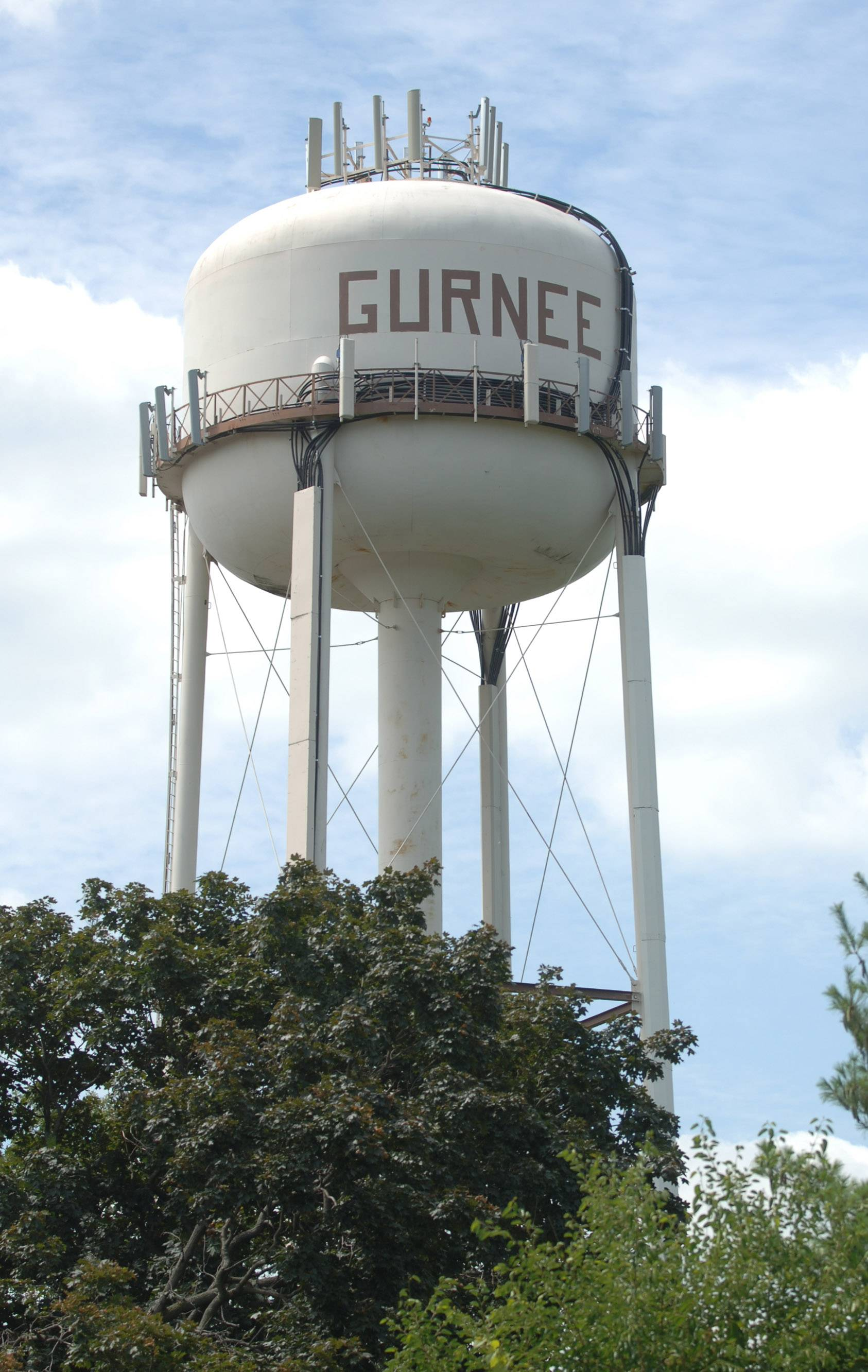 This water tower near Fire Station 1 in Gurnee will be removed this spring. The village approved a plan to build a new water tower on the west side of town by 2020.
