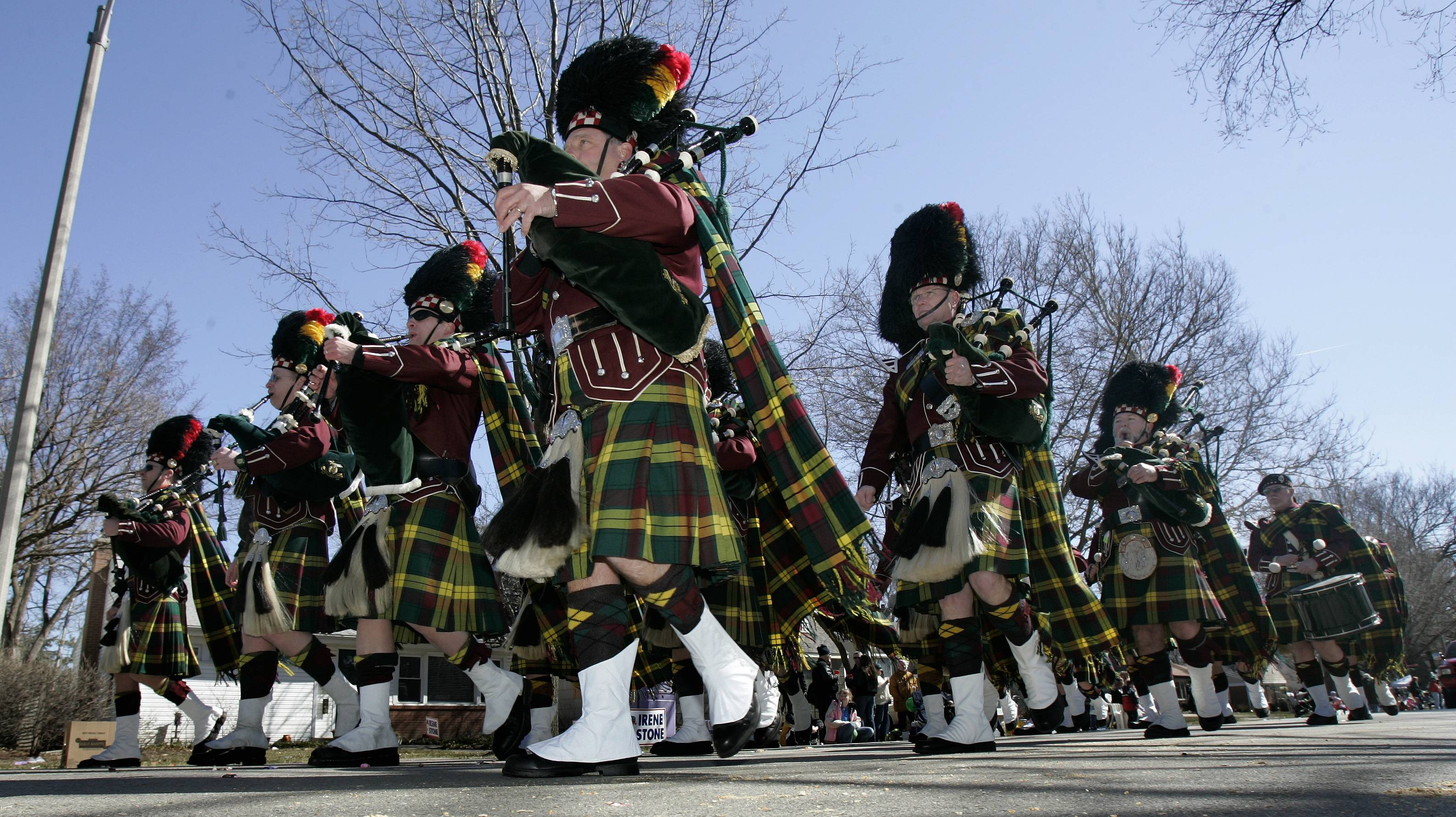 Elmhurst St. Patrick's Day Parade will march up Spring Road with more than 80 entries, including bagpipers, floats, politicians, the parade's traditional big drum and the World Famous Elmhurst Armpit Orchestra.