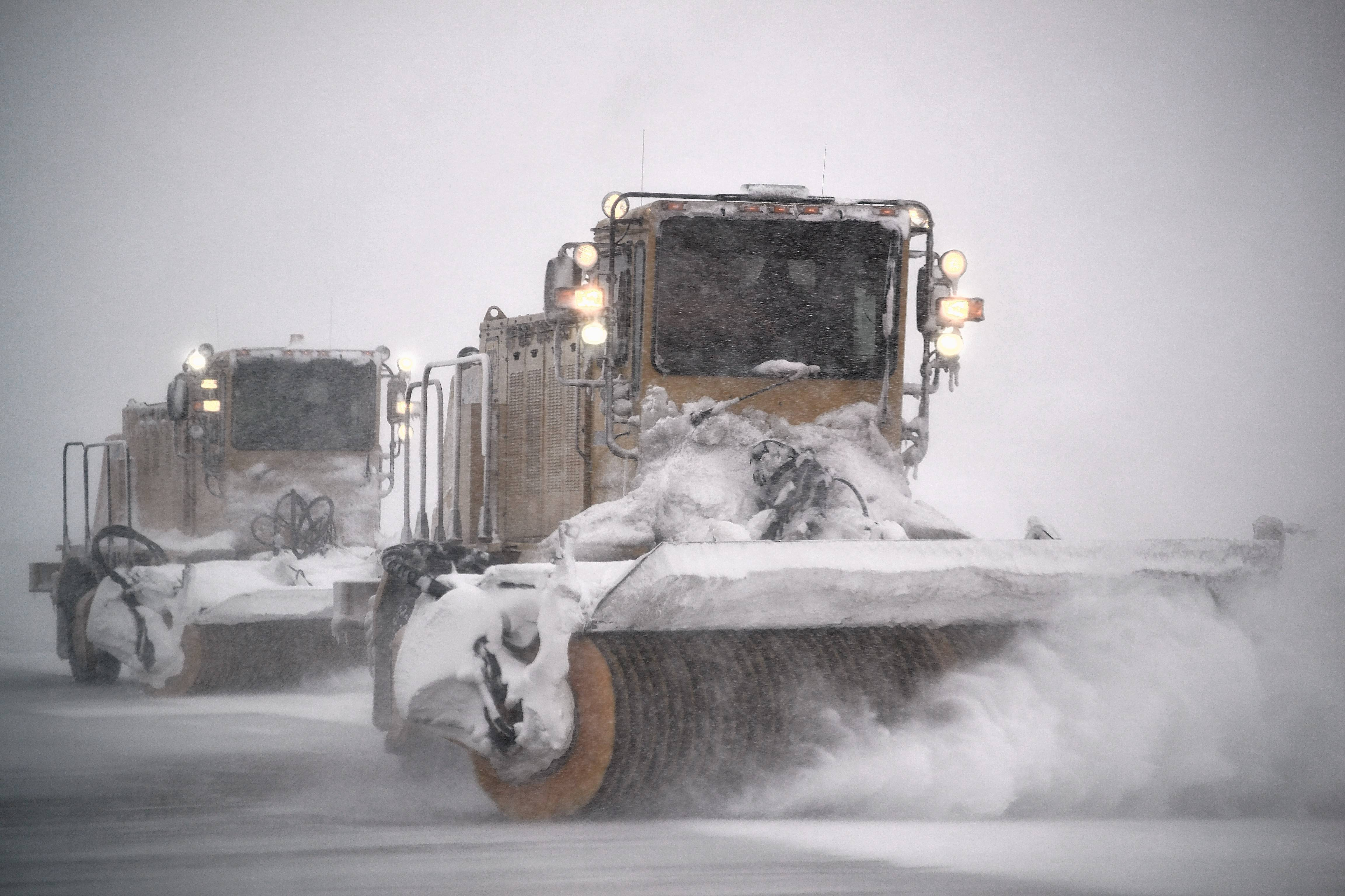 Snowplow drivers removed nearly 5,000 dump truck loads of snow from Chicago Executive Airport during a storm in February, officials estimated.