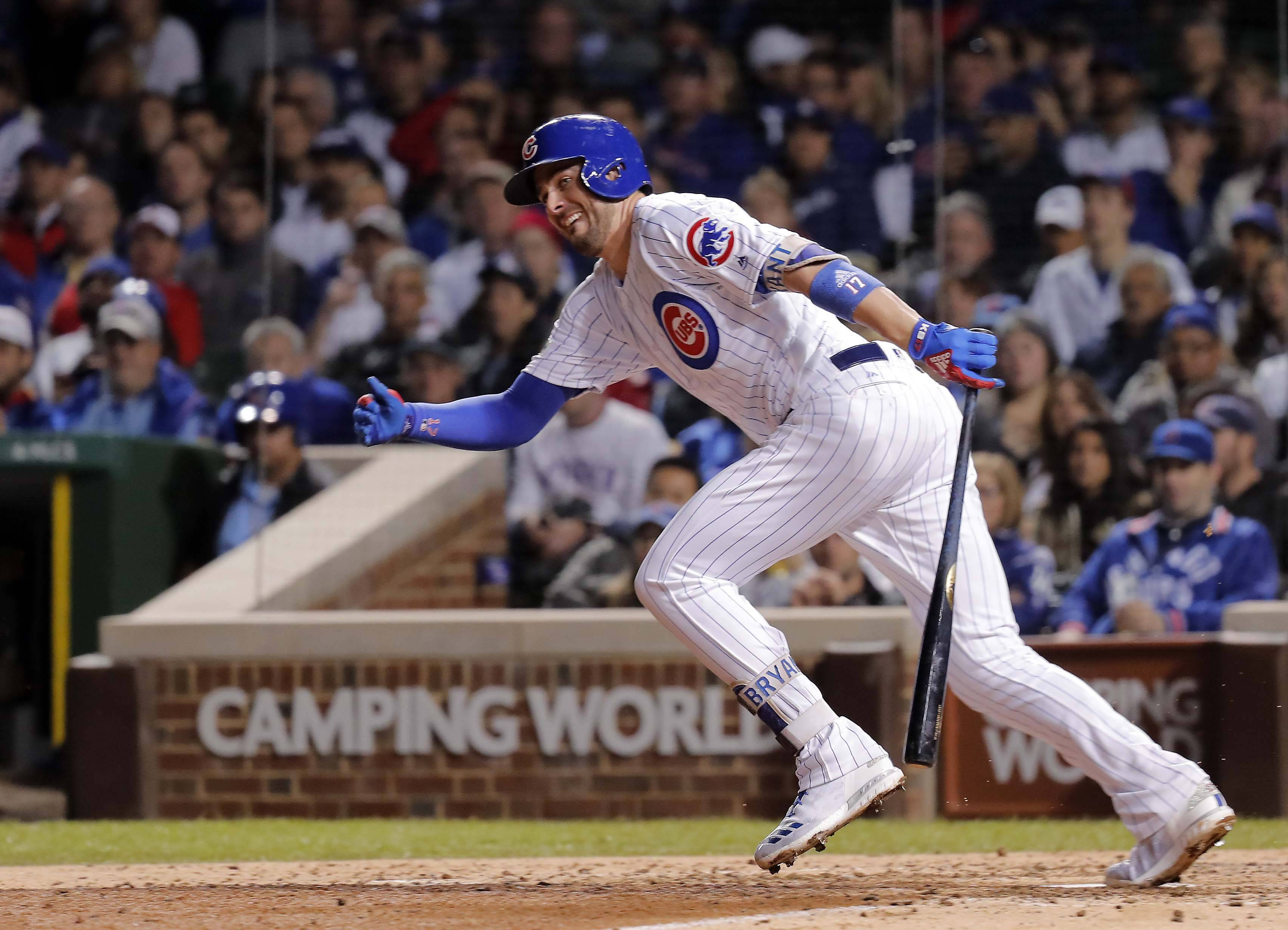 Chicago Cubs third baseman Kris Bryant had career highs in batting average and on-base percentage last season.