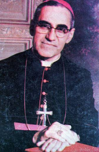 FILE - This undated file photo shows Archbishop Oscar Arnulfo Romero, who was gunned down while giving Mass in a San Salvador church on March 24, 1980. Pope Francis has cleared the way for slain Salvadoran Archbishop Oscar Romero to be made a saint, declaring that a churchman who stood up for the poorest of the poor in the face of right-wing oppression should be a model for Catholics today.