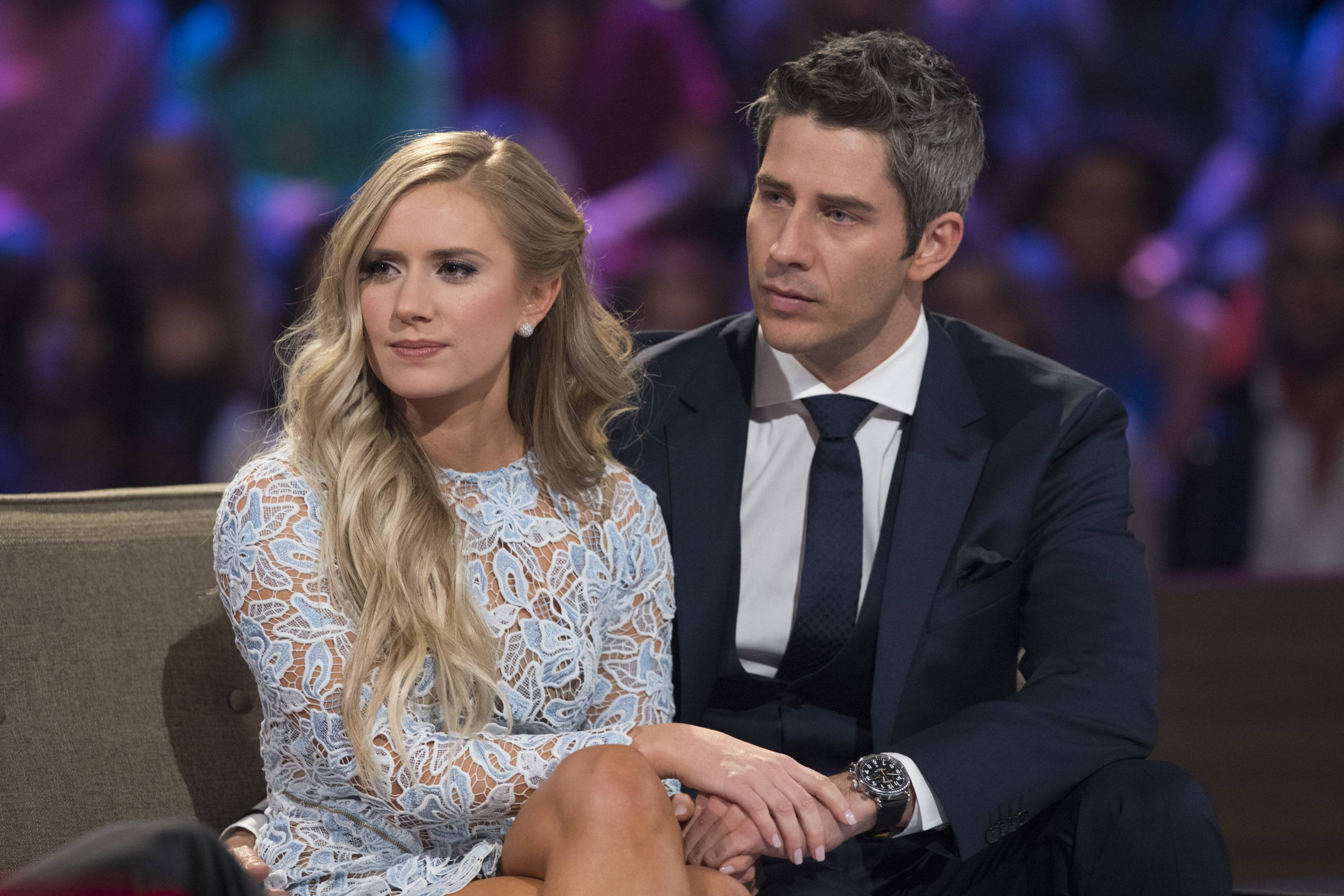 "Lauren Burnham and Arie Luyendyk Jr. on ""The Bachelor: After the Final Rose."" Luyendyk says he's willing to take the heat for dumping Becca Kufrin to find true love with runner-up Lauren Burnham."