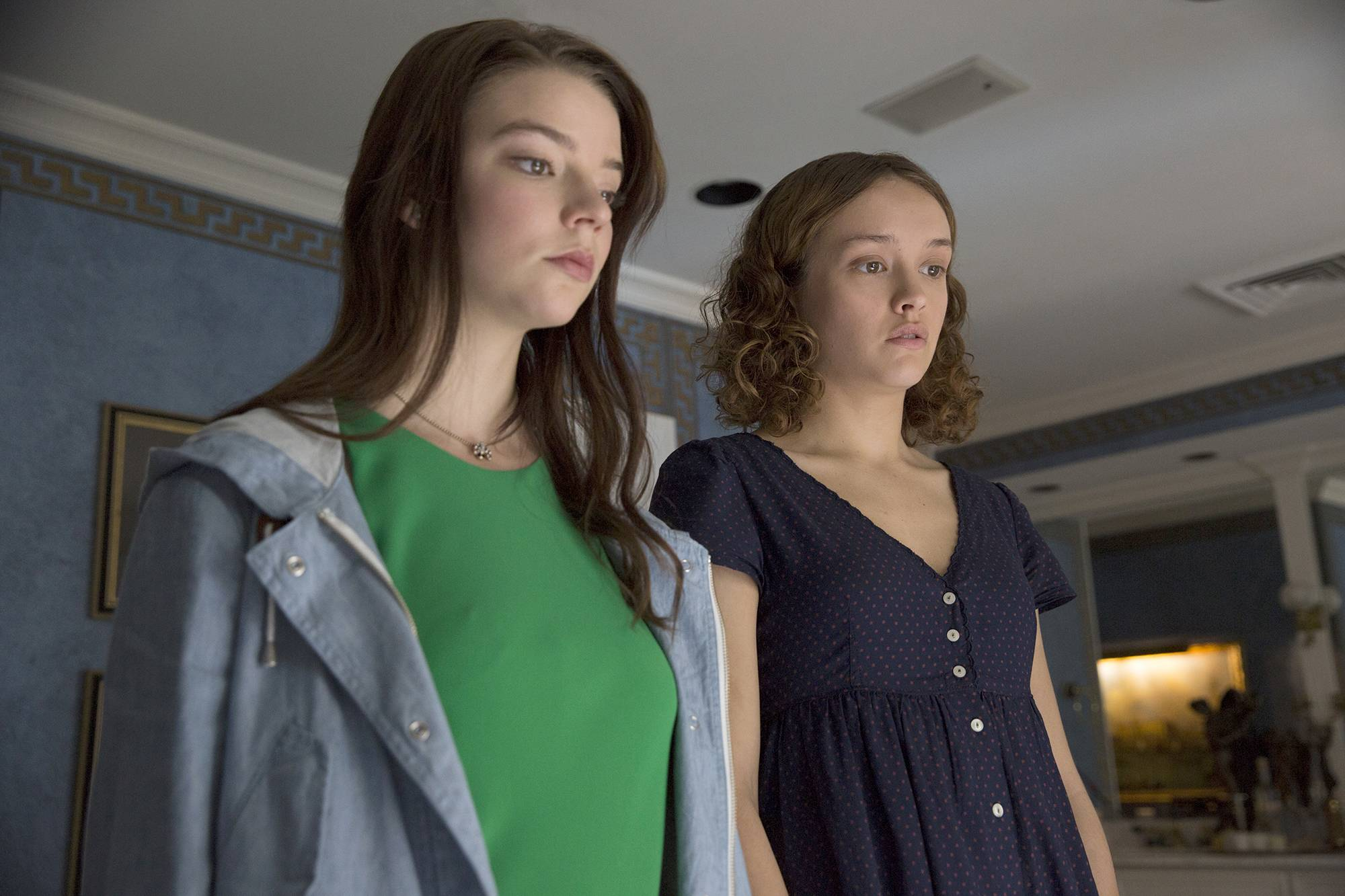 "Lily (Anya Taylor-Joy), left, reunites with the disturbed Amanda (Olivia Cooke) in ""Thoroughbreds."""