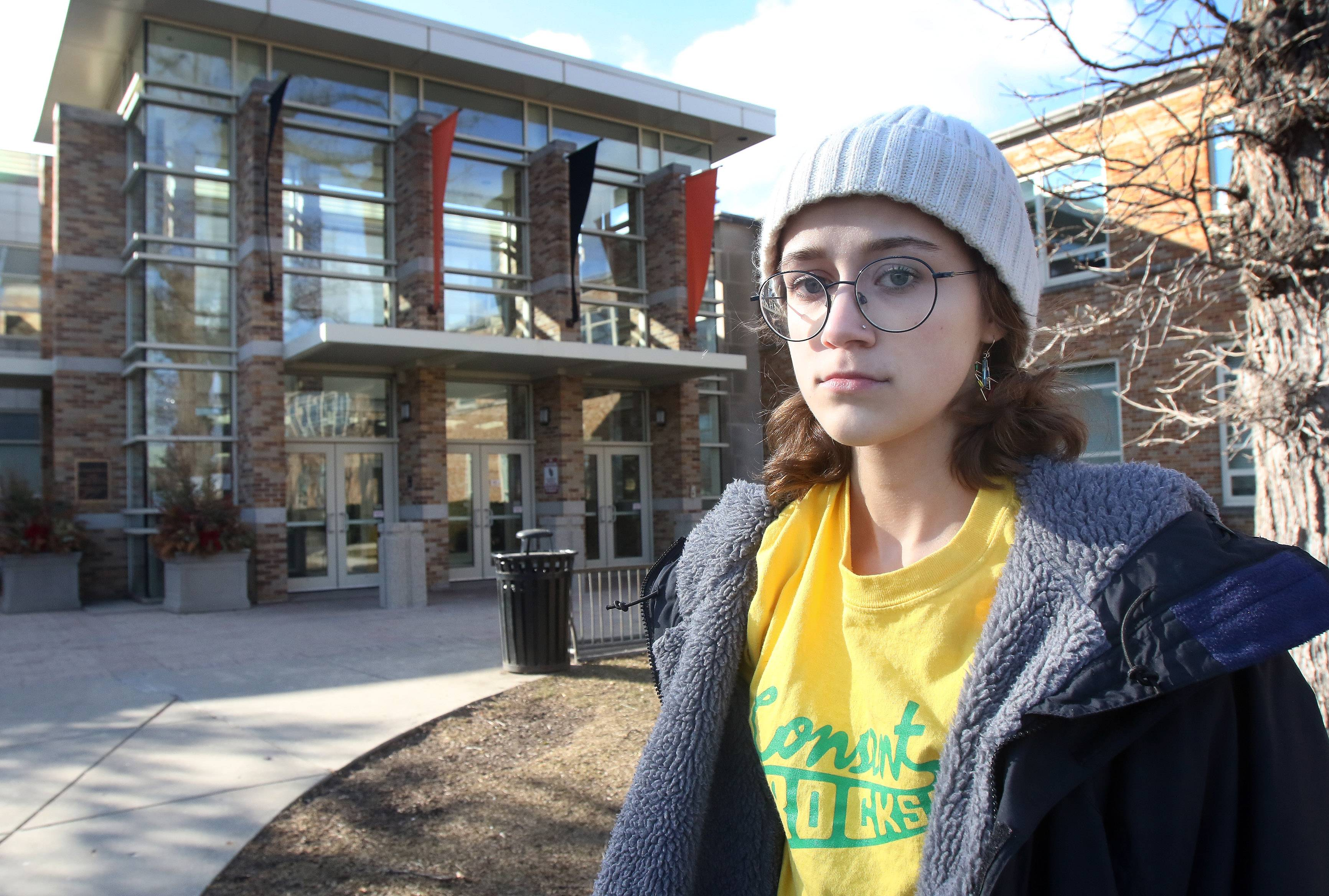 Libertyville High School senior Mary Lothspeich is part of a group of students organizing a walkout to protest gun violence on school campuses. Students across the country are set to walk out March 14 -- one month after 17 people were killed at a school in Parkland, Florida.