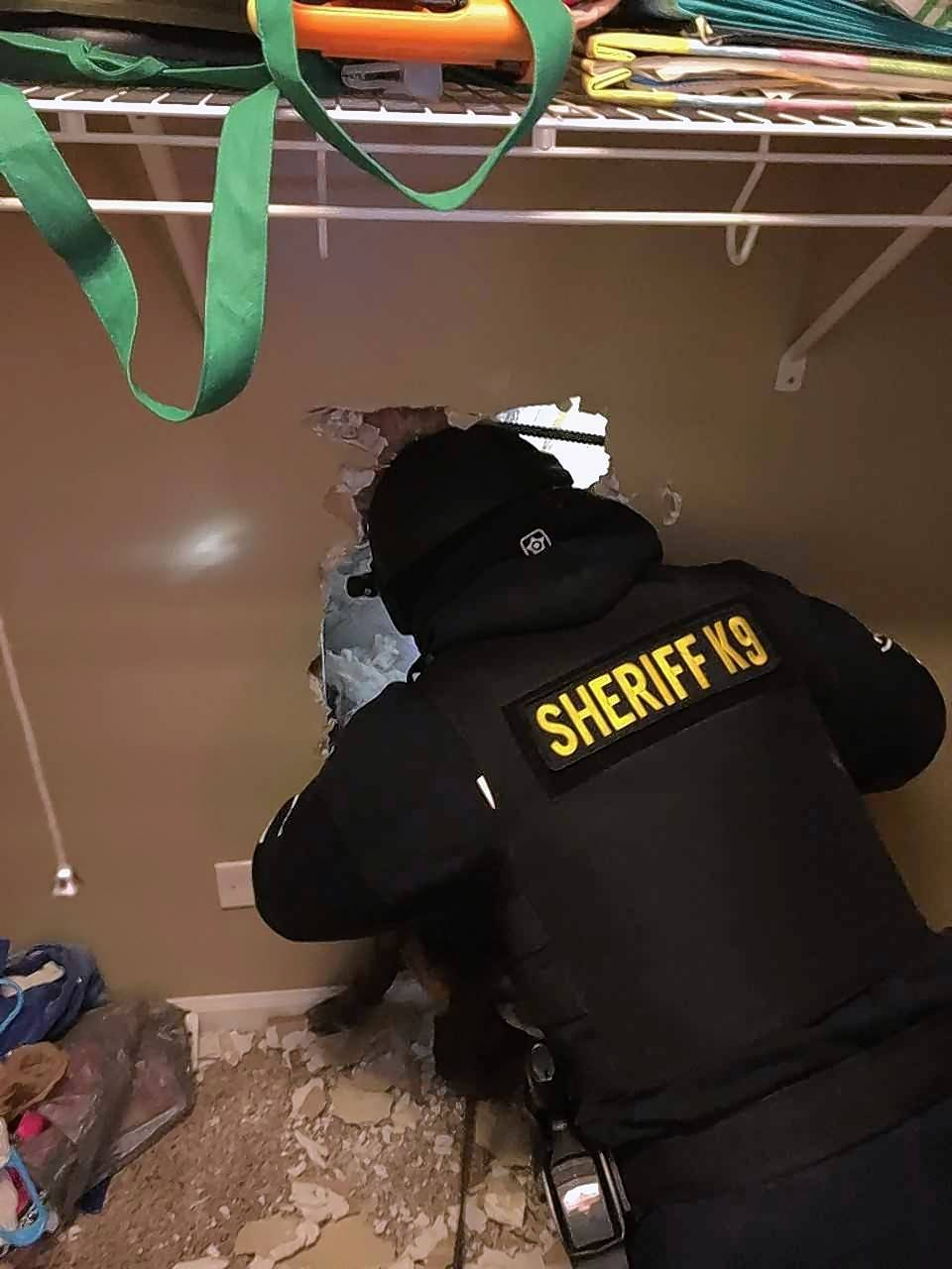 The Lake County Sheriff's Warrants team and U.S. Marshals apprehended Matthew T. Heidbrick from an attic Thursday morning, reports said. They breached a wall and the police canine located the fugitive, police said.
