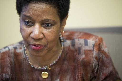 "Phumzile Mlambo-Ngcuka, United Nations Under-Secretary-General and Executive Director of U.N. Women, speaks during an interview with The Associated Press, Wednesday, March 7, 2018, in New York. On the eve of International Women's Day, Mlambo-Ngcuka said that in the immediate future at the very least there is a possibility of reducing and halting the continuation of abuse because perpetrators now know ""there is actually a possibility that your victim might tell."" ""This is a tipping point and a critical time for everyone,"" said Mlambo-Ngcuka."