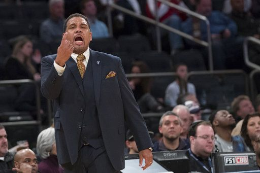 Providence head coach Ed Cooley directs his team during the second half of an NCAA college basketball game against Creighton in the quarterfinals of the Big East conference tournament, Thursday, March 8, 2018, at Madison Square Garden in New York. Providence won 72-68 in overtime.