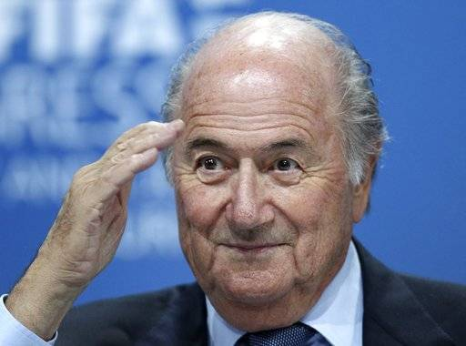 "FILE - In this June 1, 2011 file photo Sepp Blatter attends a press conference in Zurich, Switzerland.  FIFA's former president Sepp Blatter said Thursday March 8, 2018 that the North American bid to host the 2026 World Cup now seems ""afraid� of losing to Morocco."