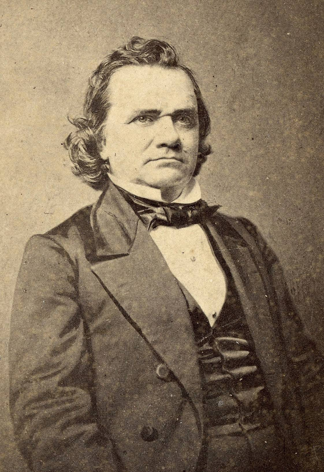 Stephen A. Douglas in the 1850s, when he was a U.S. senator from Illinois.