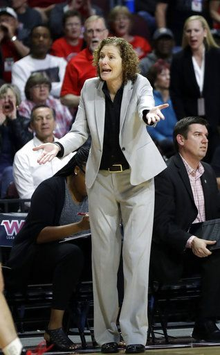 09968d928494 Seattle coach Suzy Barcomb instructs her team during the second half of an  NCAA college basketball