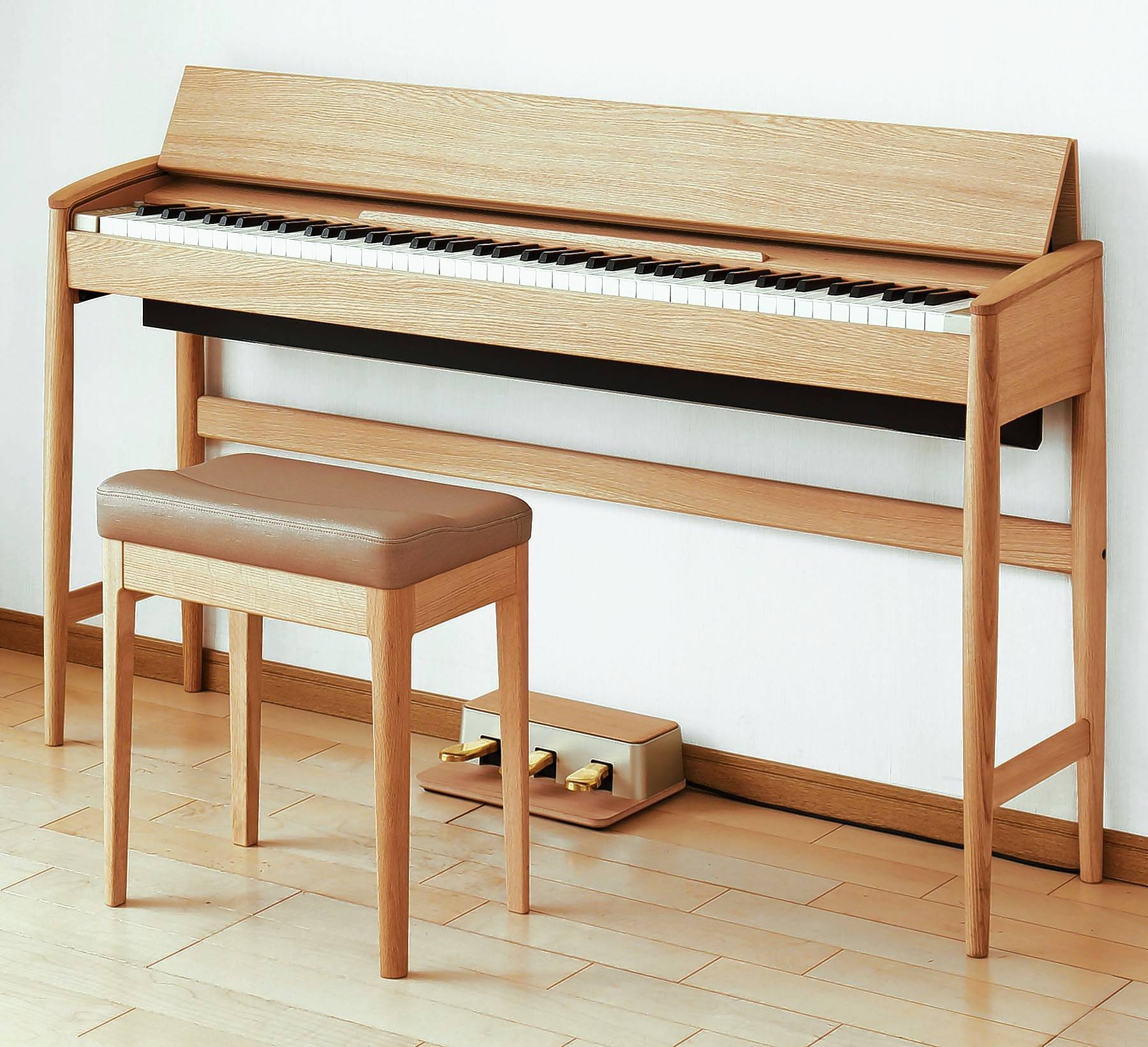 The Roland Mid-Century-Styled Piano can be found on the online furniture section of the New York City Museum of Modern Art Design Store.