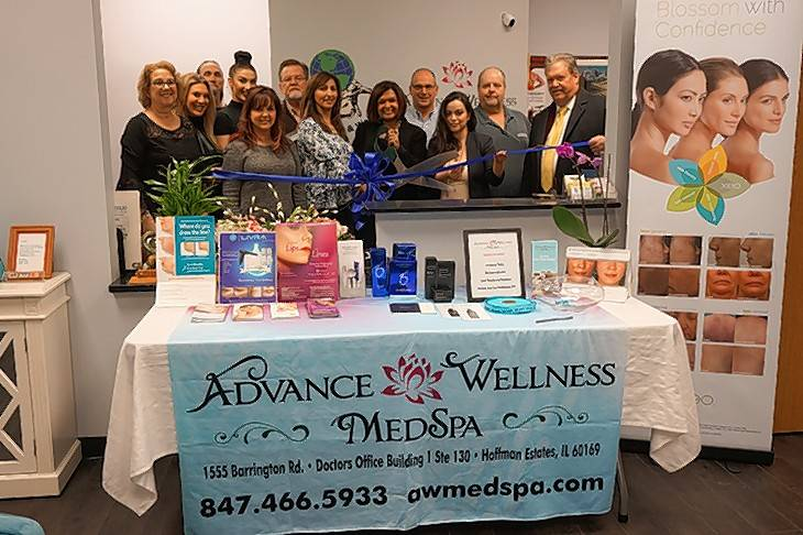 The Barrington Area Chamber of Commerce gathered for a ribbon-cutting ceremony to celebrate the opening of Advance Wellness Medspa, at St. Alexius, 1555 Barrington Road in Hoffman Estates.