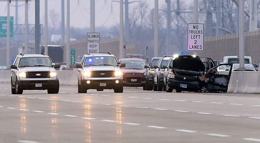 Westbound Interstate 90 was closed until 8:45 a.m. Monday between Beverly Road and Route 25 in Elgin after Decynthia S. Clements died in a police-involved shooting.