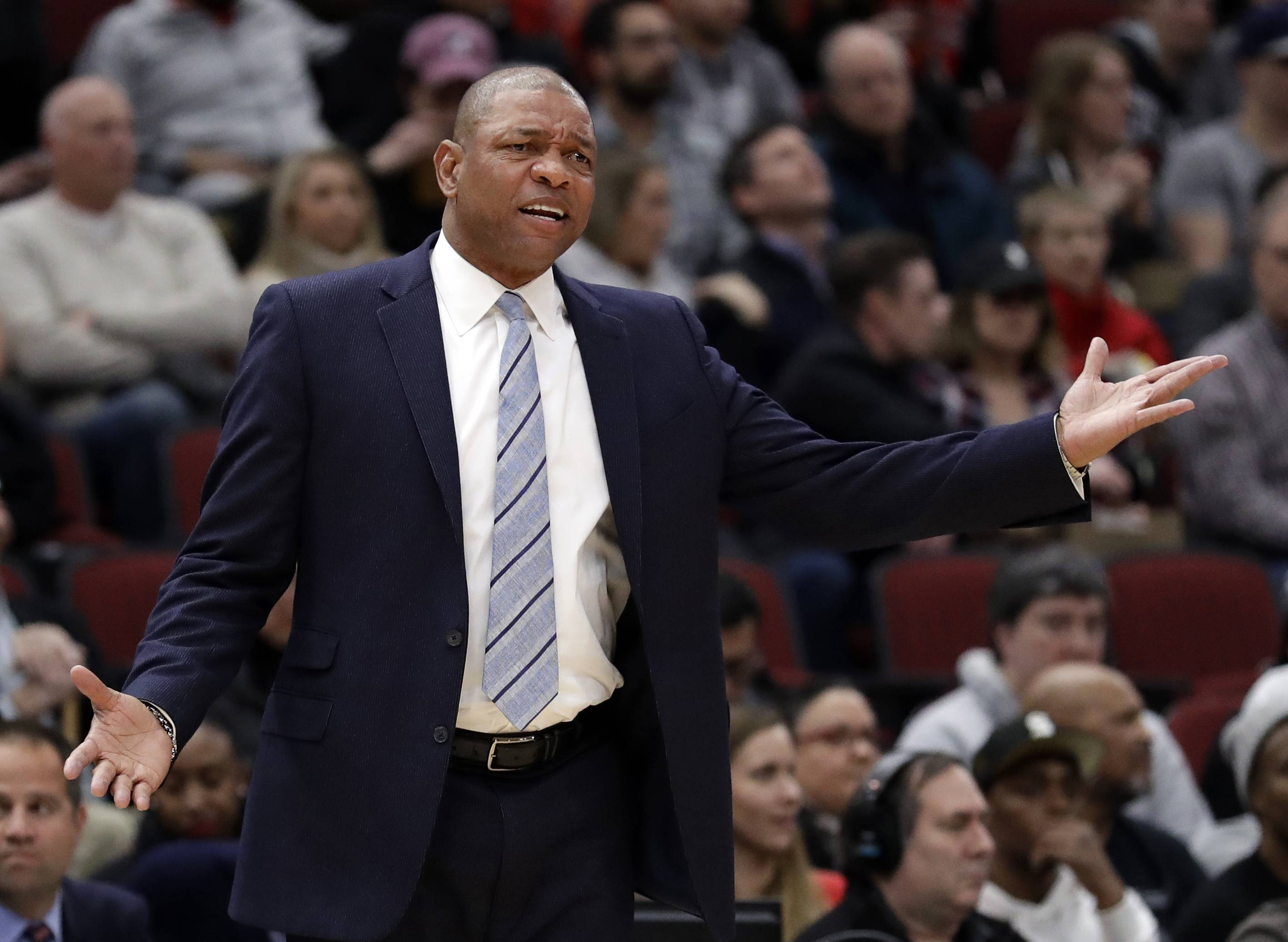 Los Angeles Clippers coach Doc Rivers had plenty of Chicago stories to share before his lone regular-season game at the United Center. For starters, he's glad fellow Chicago native Patrick Beverly is on his side.