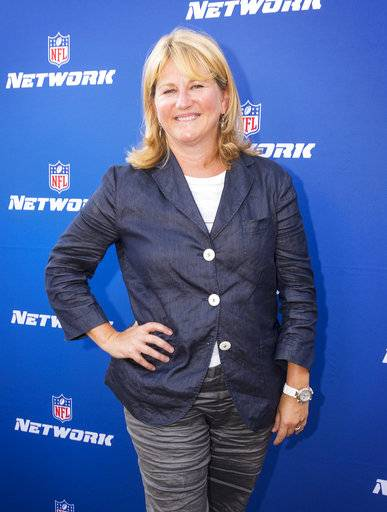 "FILE - In this Aug. 24, 2017, file photo, NFL Network President Maryann Turcke attends the Hall of Fame Heroes Event in Santa Monica, Calif. The NFL has promoted Maryann Turcke to chief operating officer, making her the highest-ranking woman at the league offices. Commissioner Roger Goodell said Tuesday, March 13, 2018, she has ""distinguished herself by leading NFL Network to a record-setting year.""(Colin Young-Wolff/AP Images for NFL Network, File)"