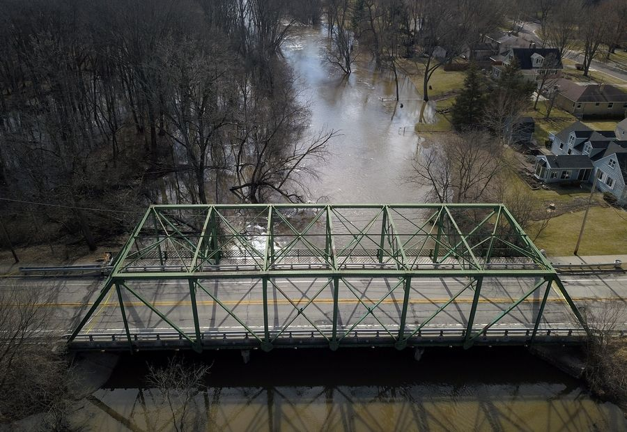 The Rockland Road bridge in Libertyville was closed Feb. 1, after an inspection showed the truss was so deteriorated it presented a potential safety hazard for vehicles or pedestrians.