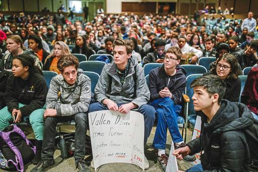Students around US stage huge walkout against gun violence