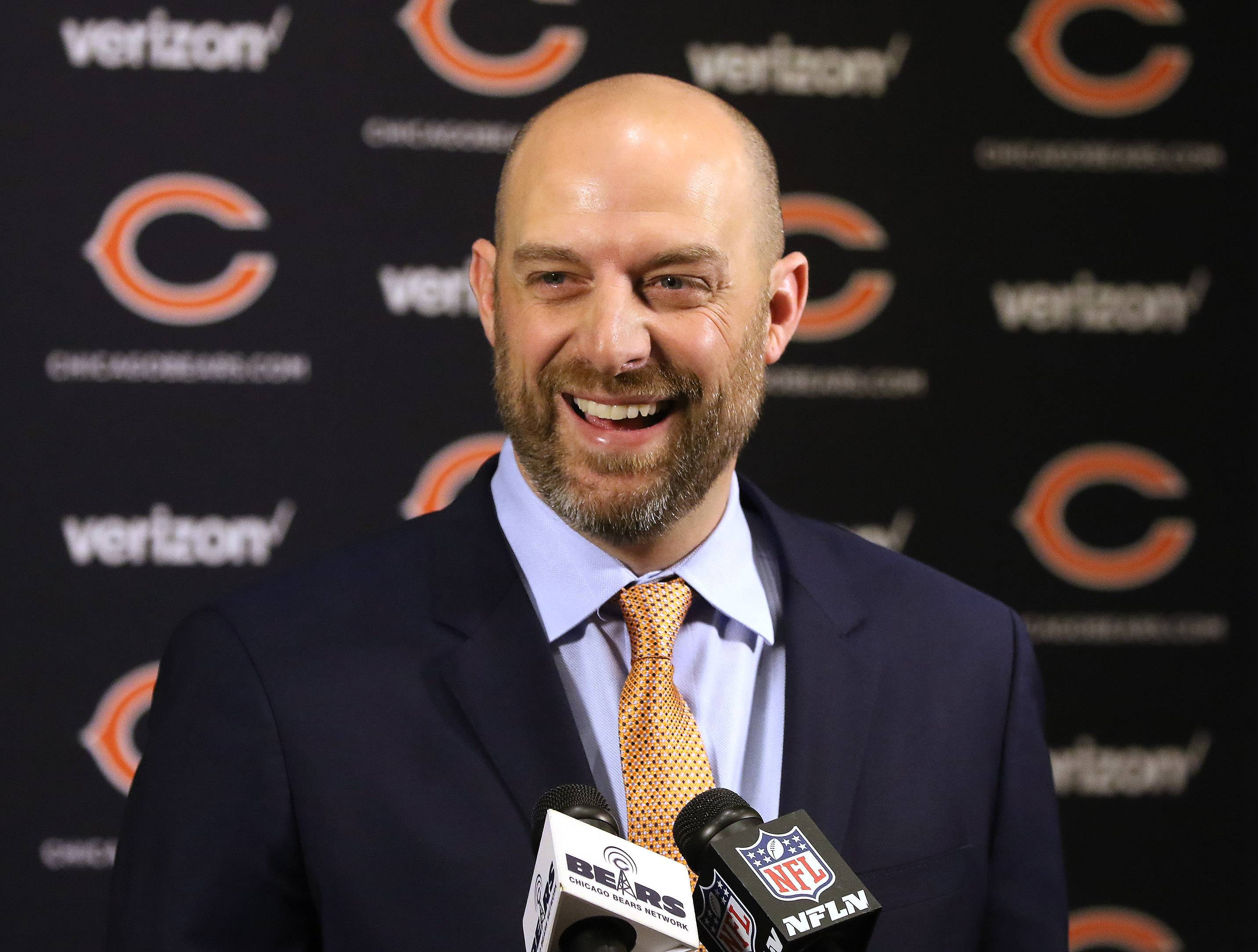 Chicago Bears head coach Matt Nagy made quite an impression among the recent free agents who signed with the team.