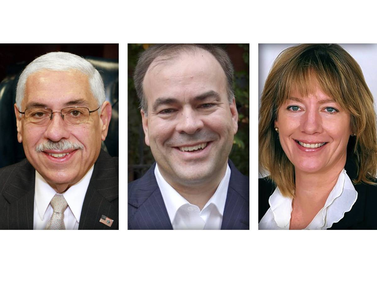 Candidates for Cook County Assessor are, from left, Joseph Berrios, Fritz Kaegi, and Andrea Raila.
