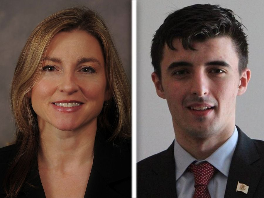 Karen Feldman, left, and Marko Sukovic are candidates for the Republican nomination in state House District 59.