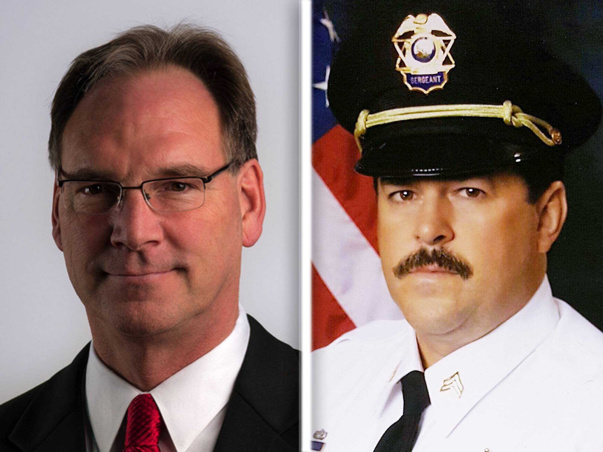 Don Kramer, left, and Kevin Tindall are Republican candidates for Kane County sheriff.