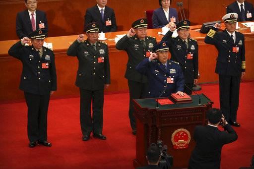 China names former missile force commander defense minister