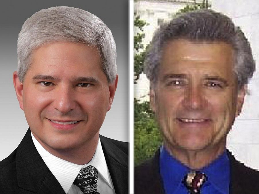 Nick Stella, left, and Constant Vlakancic, right, are Republican candidates for the 11th Congressional District.