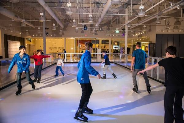 New Skate Room Ice Skating Rink Opens Inside Hawthorn Mall Features