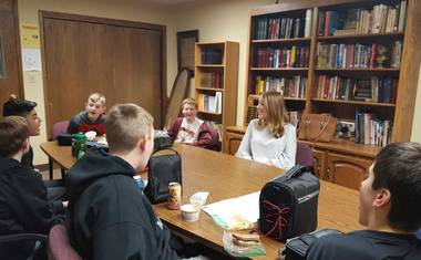 March 19 2018 articles immanuel school grad shares broadcasting expertise with students malvernweather
