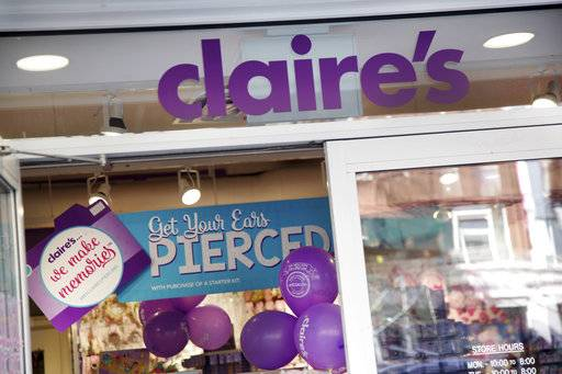Claire's, the ear-piercing mall chain, files for bankruptcy
