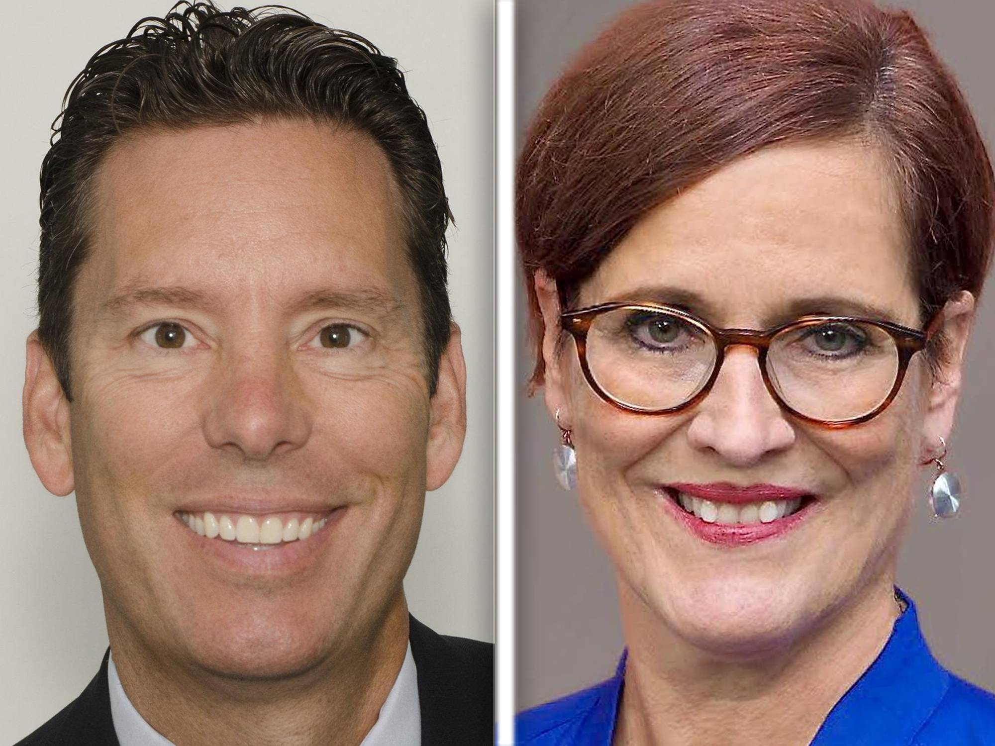 James Caffrey and Anne Sommerkamp, right, are Democratic candidates for 47th Illinois House District seat.