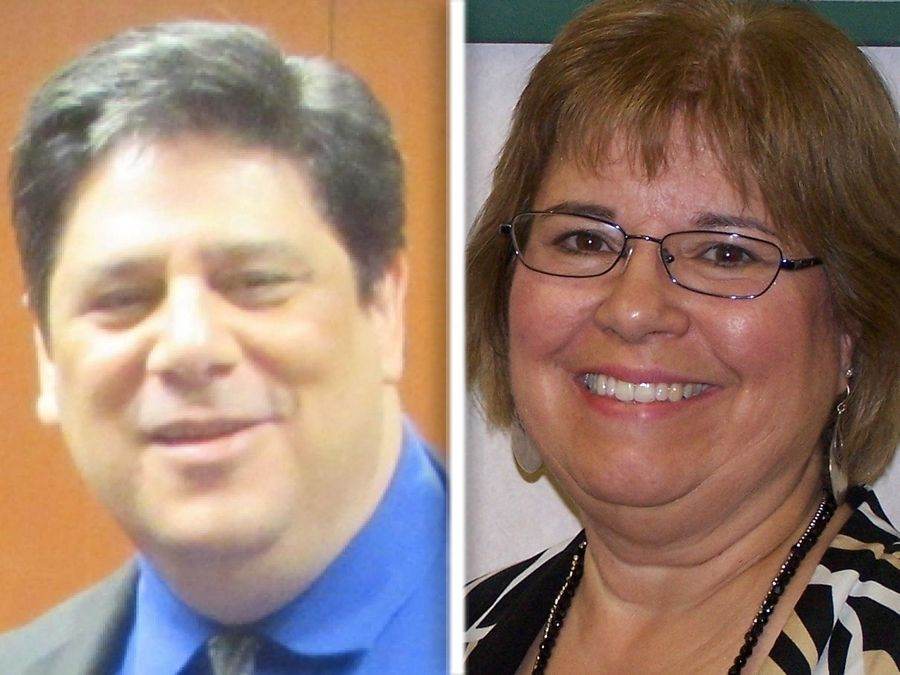 Adam Broad, left, and Robin O'Connor, right, are Democrat candidates for Lake County Clerk.