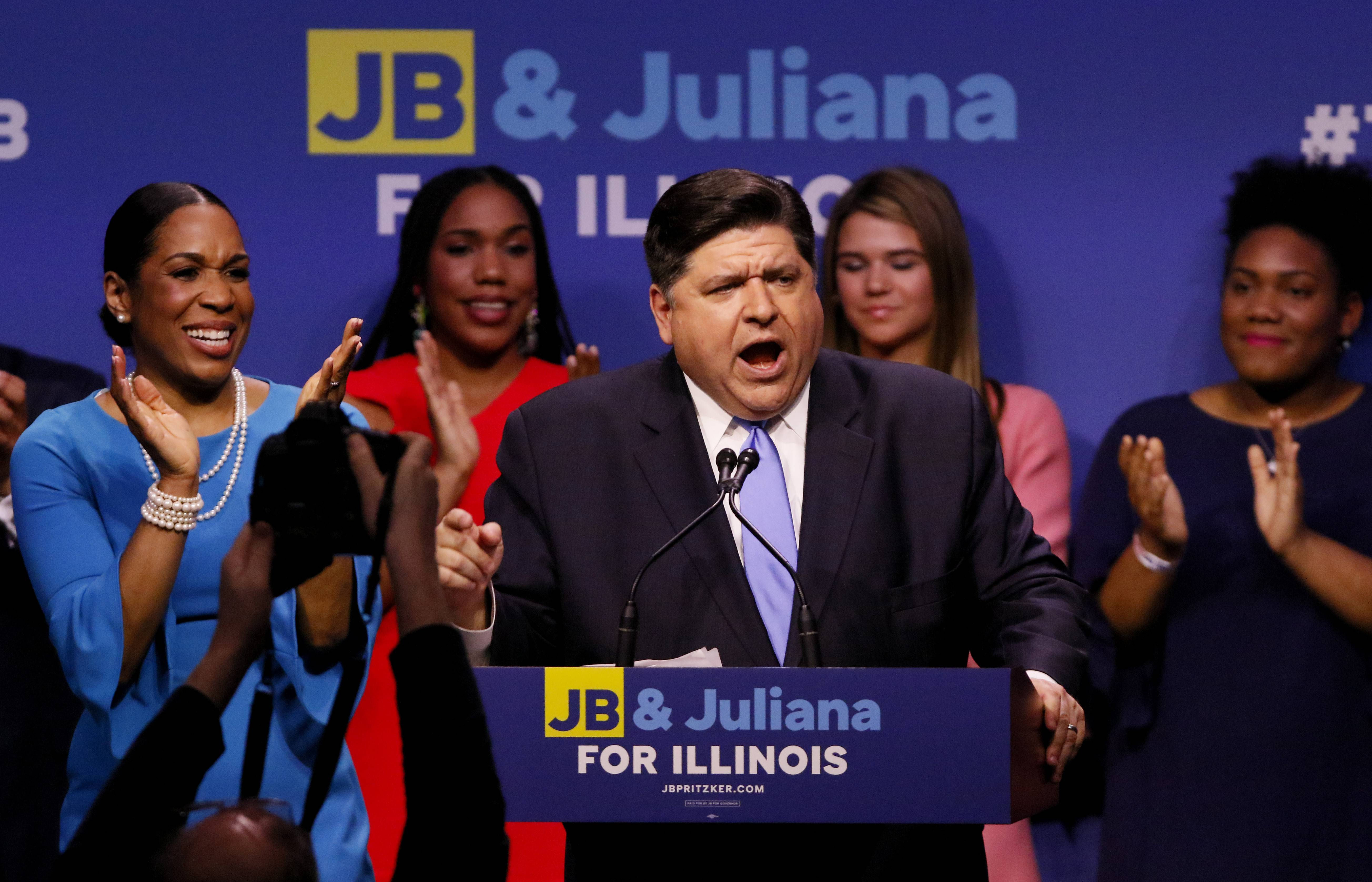 JB Pritzker is a candidate for Governor (Democratic primary, 4-year term).