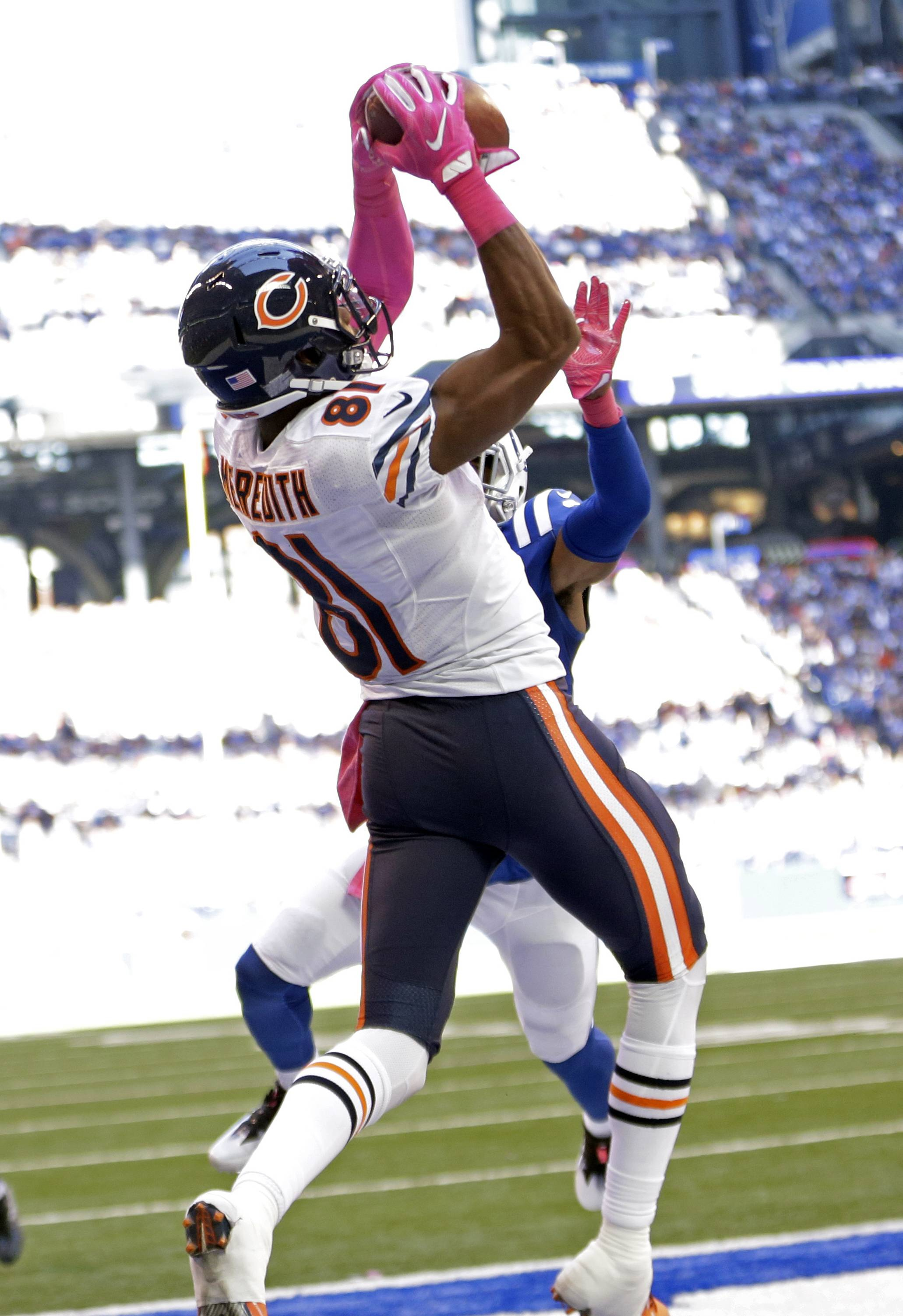 The Bears could be facing a difficult decision on wide receiver Cam Meredith, who emerged as their No. 1 receiver in 2016, even though he was inactive for the first two games.