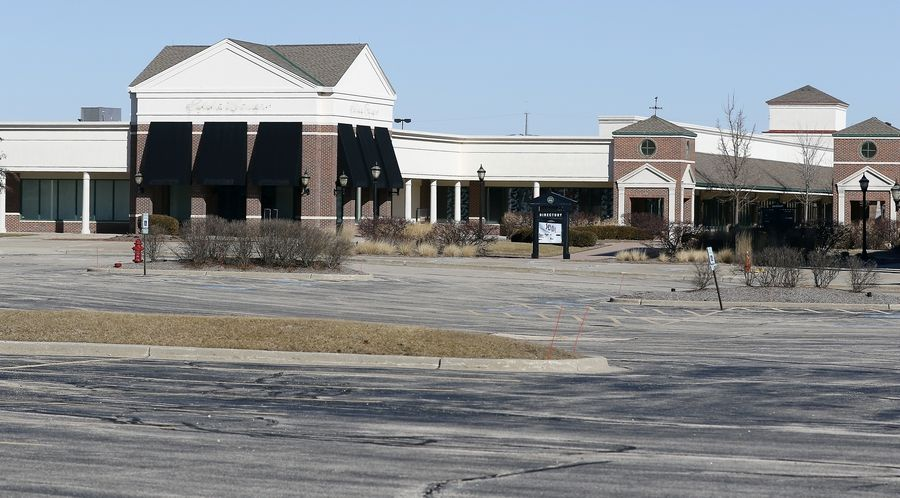 The 279,000-square-foot Huntley Outlet Center will be demolished next month. Owners are working with the village on rezoning the property for office, research and industrial use and soliciting national real estate firms to help market it.