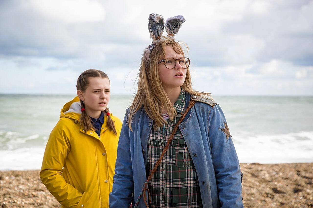 "Sophia (Sydney Wade), left, befriends Barbara (Madison Wolfe), who believes giants will destroy their town, in the metaphorical fantasy ""I Kill Giants."""