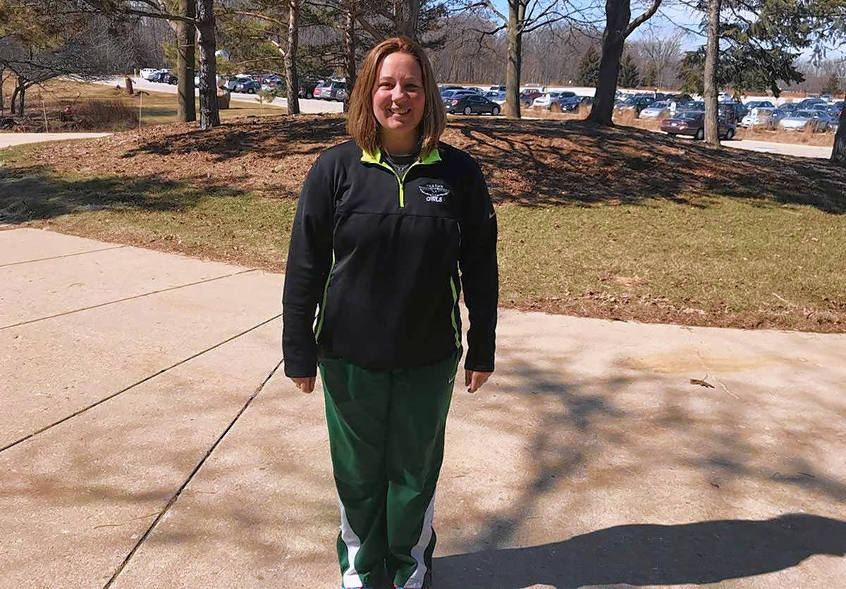 """I'm extremely passionate about softball,"" says Alicia Mikulski, the new softball coach at Oakton Community College."