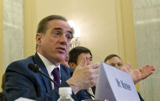Veterans Affairs Secretary David Shulkin testifies on FY2019 and FY2020 budgets for veterans programs before the Senate Committee on Veterans Affairs on Capitol Hill, Wednesday, March 21, 2018, in Washington.